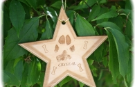 Lasered Keepsake Ornament - Star