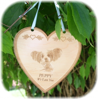 Lasered Keepsake Ornament - Heart