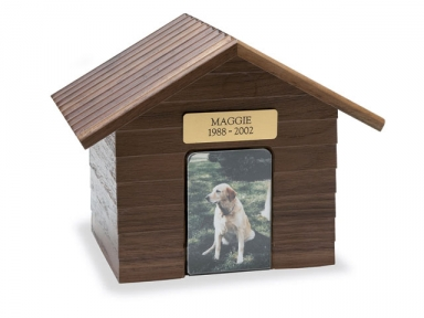 K-9 Cottage Urn - Walnut